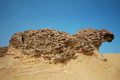 Honeycomb Rock Royalty Free Stock Photography