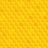 Honeycomb seamless pattern. Bright Golden sun background. Royalty Free Stock Photos