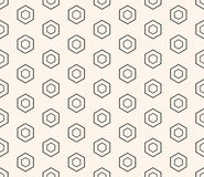 Honeycomb seamless pattern. Design element for prints, decoration, fabric, furniture, digital, web. Vector honeycomb seamless pattern, repeat geometric Royalty Free Stock Photos