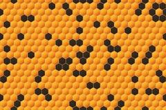 Honeycomb Seamless Pattern. Geometric Hexagons Background Royalty Free Stock Photo