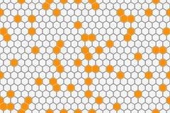 Honeycomb Seamless Pattern. Geometric Hexagons Background Stock Photos