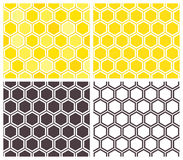 Honeycomb seamless pattern set Stock Photos