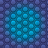 Honeycomb seamless pattern. Vector illustration Royalty Free Stock Photography