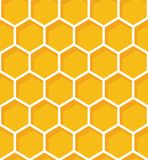 Honeycomb seamless pattern. Vector natural honey background. royalty free stock photo
