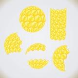 Honeycomb shapes Stock Photography