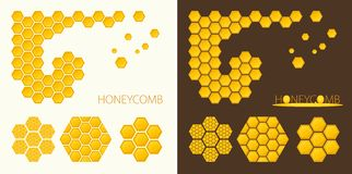 Honeycomb shapes. Stock Images