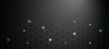 Honeycomb shiny technical background stock illustration