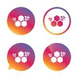 Honeycomb sign icon. Honey cells symbol. Royalty Free Stock Photo