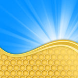 Honeycomb and sky Stock Image