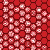 Honeycomb snowflake pattern background stock images