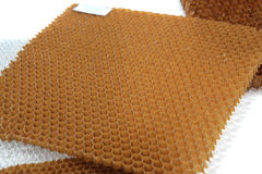 Honeycomb structure for aerospace industry Stock Image