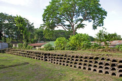 Philippines - Ancient Honeycomb Tombs Royalty Free Stock Photos