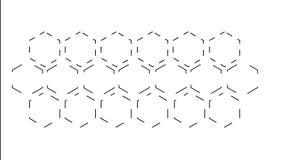 Honeycomb tworzy od geometrycznych linii i całkowicie no maluje Biały tło zdjęcie wideo
