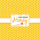 Honeycomb vector seamless pattern Stock Photos