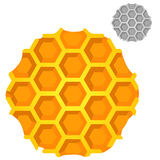 Honeycomb on white background in cartoon style. For your design needs. Vector illustration Stock Images