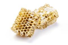 Honeycomb on white background Stock Images