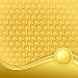 Honeycomb With Wax Stock Images