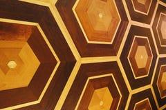 Honeycomb wzór drewniana ściana, kopii przestrzeń Zdjęcia Stock