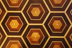 Honeycomb wzór drewniana ściana, kopii przestrzeń Zdjęcie Royalty Free