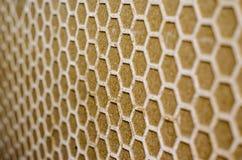 Honeycomb wzór na ścianie Fotografia Royalty Free