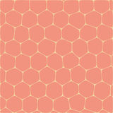 Honeycombs. Abstract vector background imitating honeycombs. Net from cells of organic form Stock Photos