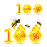 Honeycombs and bees Royalty Free Stock Photography