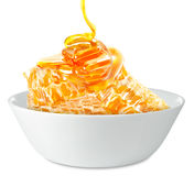 Honeycombs in a bowl Stock Photography