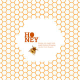 Honeycombs bright background Royalty Free Stock Photos