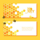 Honeycombs bright background Stock Photo