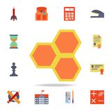 honeycombs colored icon. Detailed set of colored education icons. Premium graphic design. One of the collection icons for websites stock illustration
