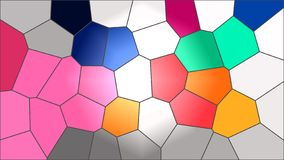 Honeycombs colourful Abstract Background royalty free illustration
