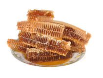 Honeycombs with honey Royalty Free Stock Photography