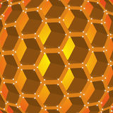 Honeycombs of honey Stock Images