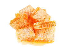 Honeycombs isolated on a white Stock Images