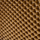 Honeycombs paper. Close up texture of cooling pad. Honeycombs paper Royalty Free Stock Photography