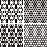 Honeycombs patterns Royalty Free Stock Images