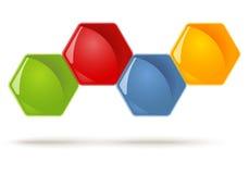 Honeycombs symbols - 4 Options Royalty Free Stock Image
