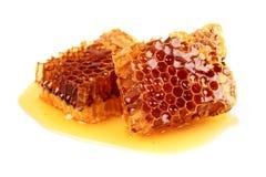 Honeycombs w zbliżeniu Zdjęcia Stock