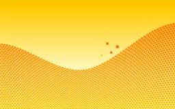 Honeycombs wave Royalty Free Stock Photos