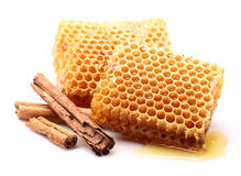 Honeycombs z cynamonem Obraz Royalty Free