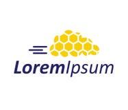 Honeycomp avec la technologie Logo Design de nuage Photographie stock