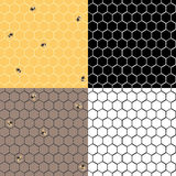 Honeycpmb set. Honeycomb set of four seamless vector images Royalty Free Stock Photography
