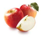 Honeycrisp apples and quarter isolated on white background Stock Image