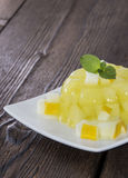 Honeydew Jello Royalty Free Stock Photography