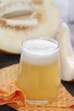 Honeydew melon juice stock photo