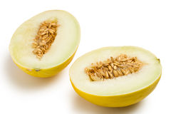 Honeydew melon on white background Stock Image