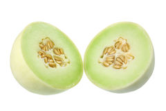Honeydew Melon. On White Background Stock Photography
