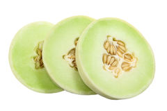 Honeydew Melon. On White Background Stock Photos
