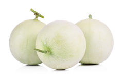 Honeydew Melon on White Background.  Royalty Free Stock Images