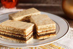 Honeyed-sahniges, traditionelles ungarisches Gebäck Lizenzfreie Stockfotos
